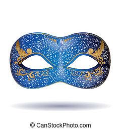 Vector Carnival Mask - Vector Illustration of an Ornate...