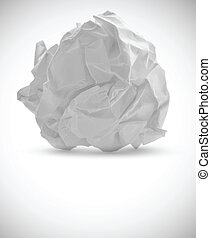 Crumpled paper isolated on white