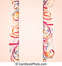 Floral Vector Design - Vector Illustration of a Floral...