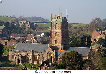 Dunster Somerset England - Dunster Church Somerset England,...