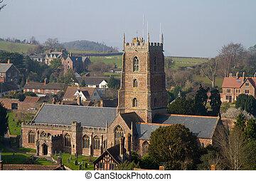 Dunster Somerset England - Dunster Church Somerset England,...