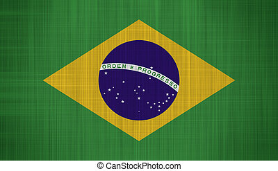 Brazil Flag with a fabric texture