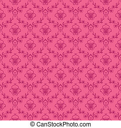 damask seamless floral pattern - Damask seamless floral...