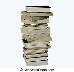 Books - A pile of books on a white background