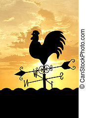 Weather Vane in sunrise