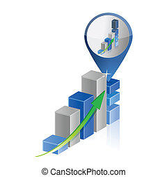 success business graph chart location pointer