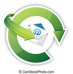 contact us illustration design over a white background