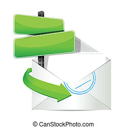 White open envelope with paper and message