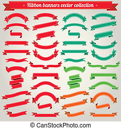 Ribbons Banners Vector Collection