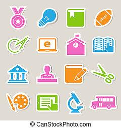 Education icons set. Illustration.