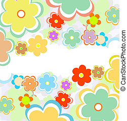 beautiful flower background art