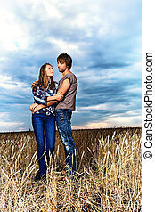 independence - Romantic young couple in casual clothes...