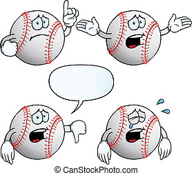 Crying baseball set - Collection of crying baseballs with...