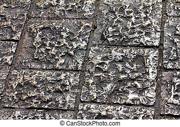 The pavement of Jerusalem. Via Dolorosa