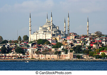 istanbul - A view from istanbul-mosque and bosphorus