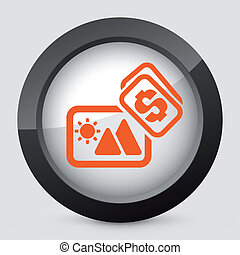 Vector orange and gray isolated icon - Vector illustration...