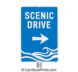Coastal Scenic Drive Surf Beach Sign - Coastal area scenic...