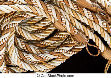 pile of the silk rope curtain tassels