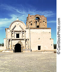 Tumacacori Mission - Ruins of Tumacacori Mission in southern...