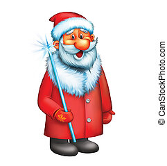 Santa Claus. Isolated illustration on white background.