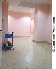 trolley for cleaner with equipments indoor