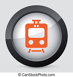 Vector orange and gray isolated icon. - Vector illustration...