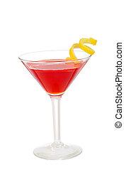 cosmo martini - isolated cosmo martini