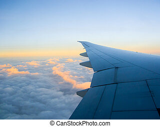 Blue Sky with Clouds-Pictures related to aviation and...