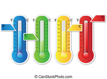 Thermometer Paper - Vector Illustration Of Thermometer Paper...