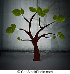 tree chart, concept of enterprise development and ideas