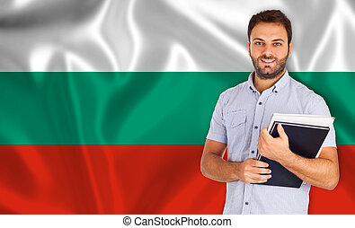 Bulgarian language - Young smiling student learns the...