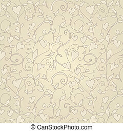 Vintage background with hearts ornament
