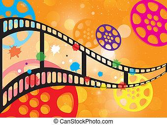 Background film vector