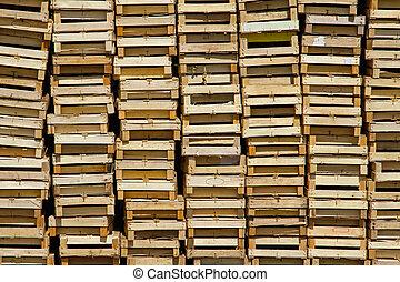 de madera, Cajones