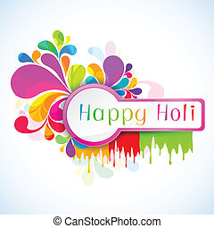 Holi Background - illustration of colorful color splash in...