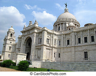 Victoria Memorial Building in Kolkata, India. A famous...