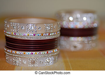 Colorful Bridal Ornament Bangles - A collection of Colorful...