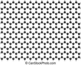 Graphene sheet, molecular model. Graphene is an allotrope of...