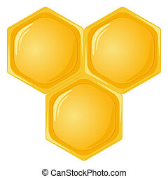 Isolated honeycomb - Honeycomb isolated on a white...