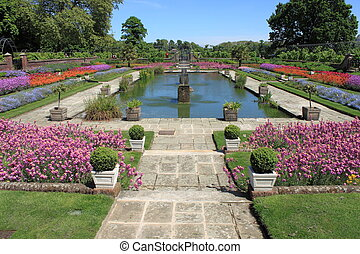 Ornamental garden in springtime