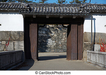oriental gates - Gates of Nagoya Castle with surrounding...