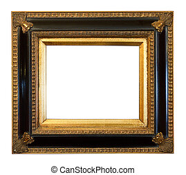 old antique Gilded Picture Frame - thick antique gold Gilded...
