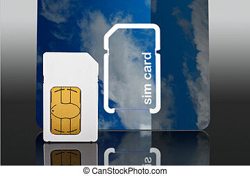new cell phone sim card - Photo of a a new Sim card from a...