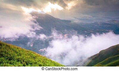 Timelapse of Tatun Mountain cloud waterfall, Taiwan