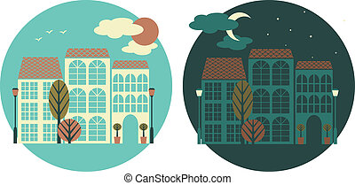 Day and Night City View