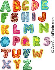 Woodcut Funky Font