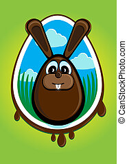 icon for Easter - Illustration summarizing the Easter Bunny...
