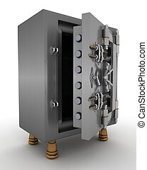 bank vault - 3d render of a bank vault