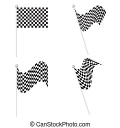 Checkered Flags set - The abstract of Checkered Flags set