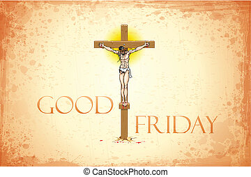 Good Friday - illustration of Jesus Christ on cross on Good...
